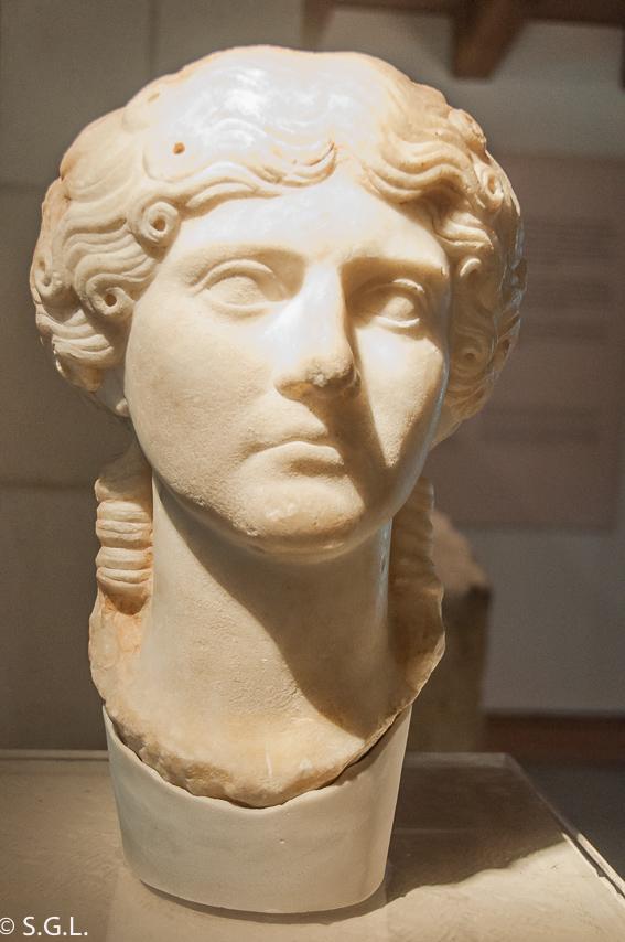 Busto de Agrippina Maior en Segobriga. Ciudad romana de Cuenca