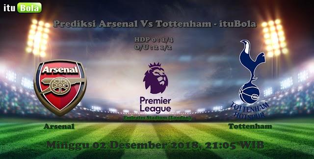 Prediksi Arsenal Vs Tottenham - ituBola