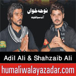 http://www.humaliwalayazadar.com/2017/09/adil-ali-shahzaib-ali-nohay-2018.html