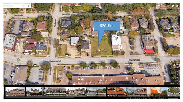 520 Westheimer - GoogleMaps snip - Needs update to reflect demolition