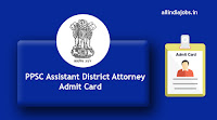PPSC Assistant District Attorney Admit Card