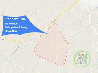 PETA : Desa Rancamulya, Kecamatan Patokbeusi