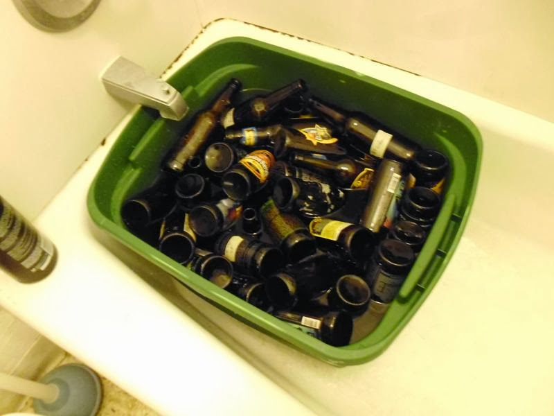 Beer Bottles in tub