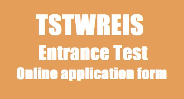 TTWRS Entrance Test,online application form,TSTWREIS