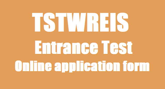 TTWRS Entrance Test,online application form,TSTWREIS