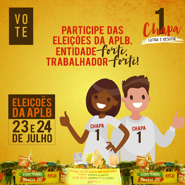 Baianópolis: Eleição da APLB Sindicato será nos dias 23 e 24 de julho