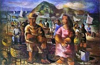 Domingo na Praia - Di Cavalcante e suas principais pinturas ~ Pintando a realidade brasileira