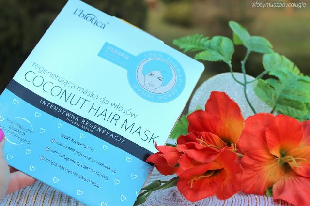 L'biotica – Coconut Hair Mask – Regenerująca maska do włosów w formie czepka
