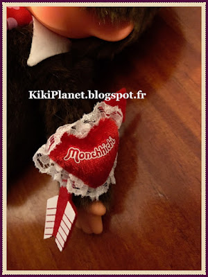 le Monchhichi Heart and Kiss Marked boy, kiki, saint valentin, valentine's day, vintage, peluche, jouets