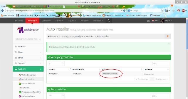 Membuat Website Pribadi dengan Engine Wordpress di IDHostinger (Gratis!)