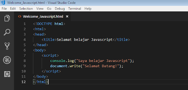 Belajar Javscript Dari Nol Untuk Pemula - Tutorial Lengkap