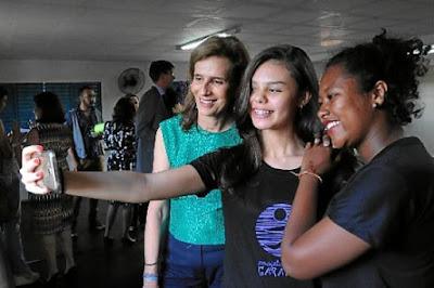 Princesa da Bélgica conhece projeto social em São Sebastião