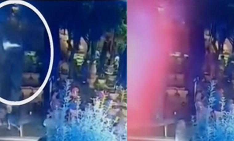 Βίντεο ντοκουμέντο: Η στιγμή που φωτοβολίδα χτυπά τη 19χρονη στο Αγρίνιο