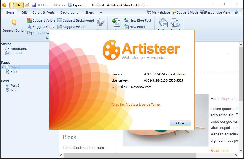 Extensoft Artisteer 4 3 0 60858 Crack Is Here! [LATEST