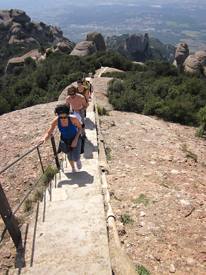 Stairs  to Sant Jeroni, the highest point in Montserrat