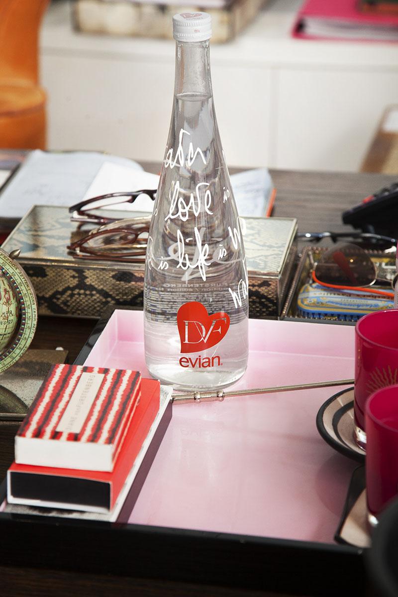 designer evian bottle