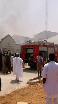 Breaking News : Kaduna state University ICT Center On unstoppable Fire!!!