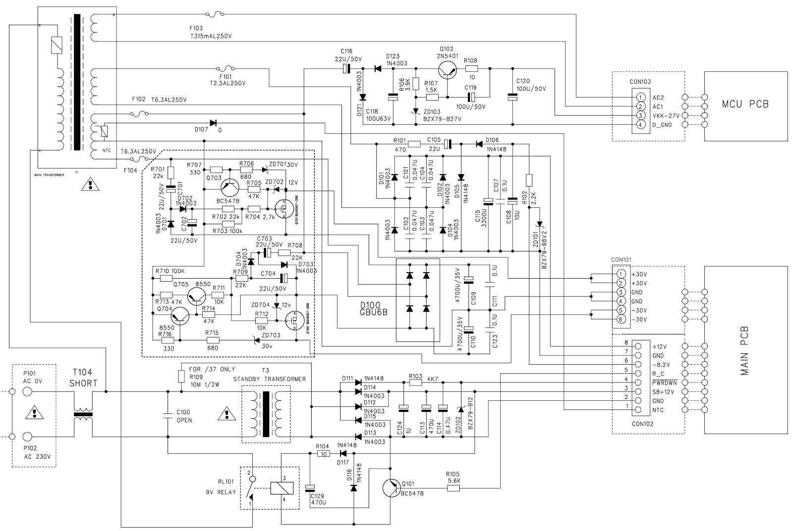 Philips MCM726 MP3 Micro HiFi System  Circuit Diagram