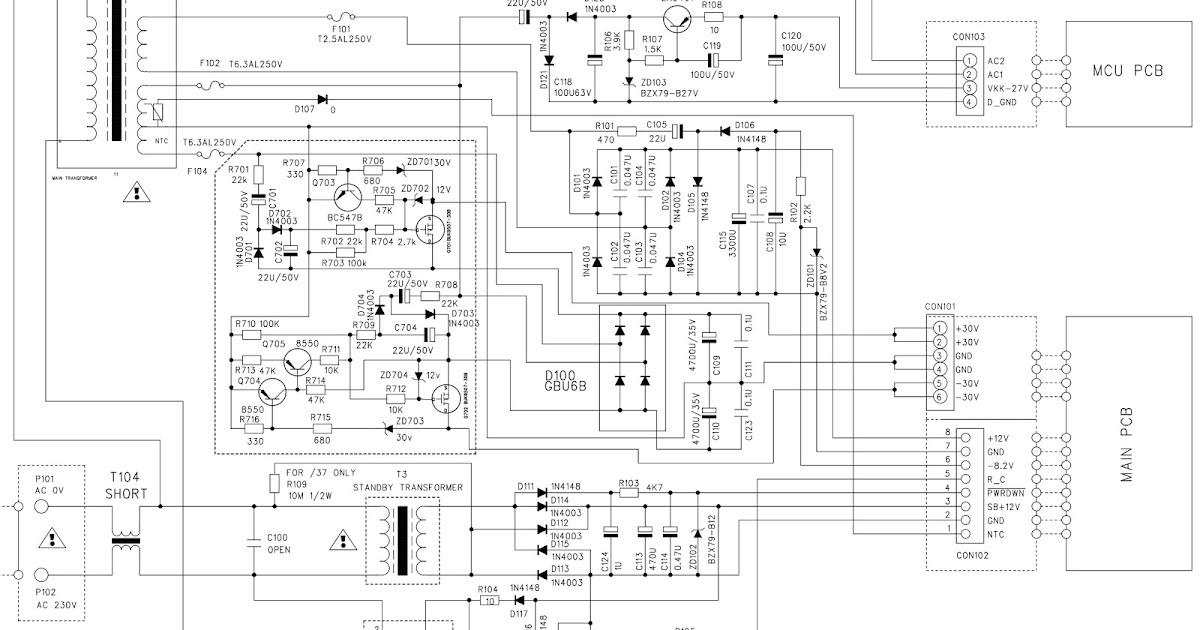 Schematic Diagrams: Philips MCM726 MP3 Micro Hi-Fi System