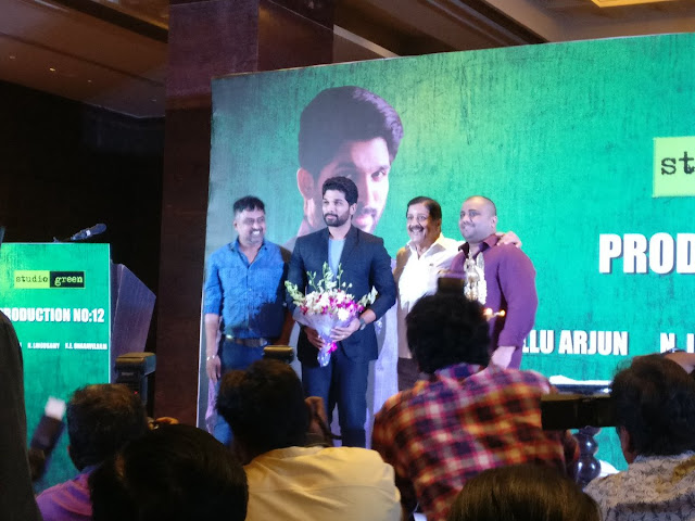 allu arjun new tamil movie launch photos