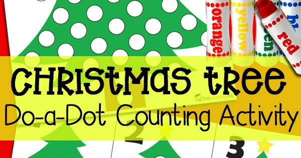 Christmas Tree Do-a-Dot Counting Activity
