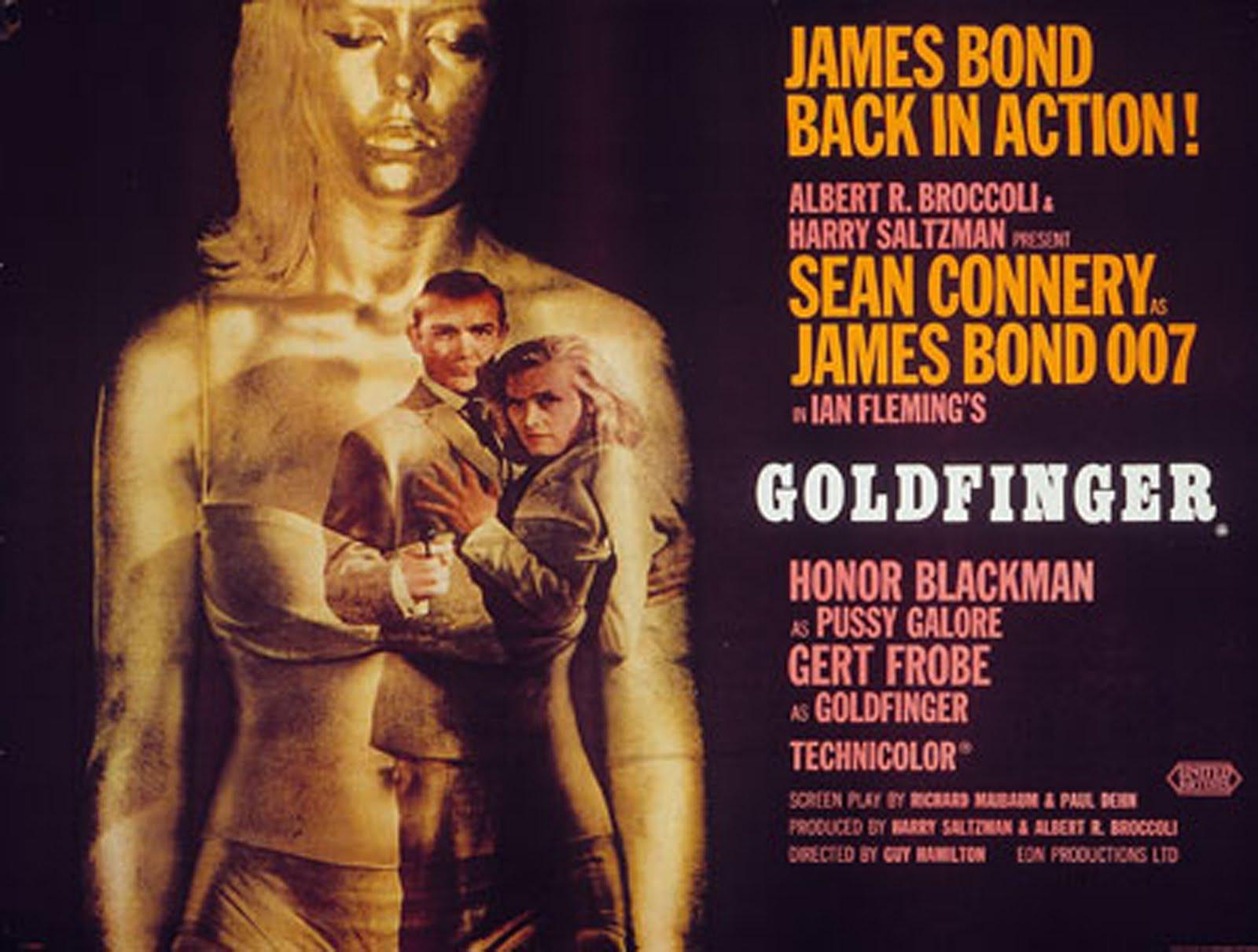Fripps Filmrevyer Bond James Bond Goldfinger 1964