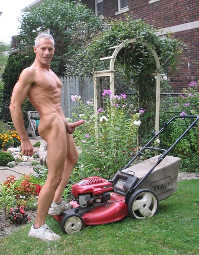 Daddies cutting the grass naked. You might also like: