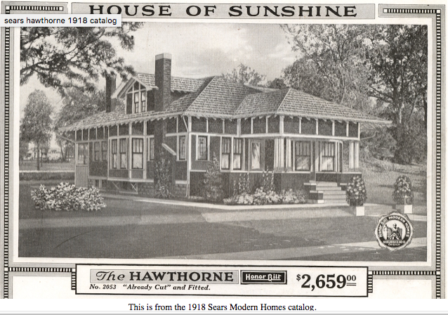 Sears Hawthorne bungalow 1918 Sears Modern Homes catalog