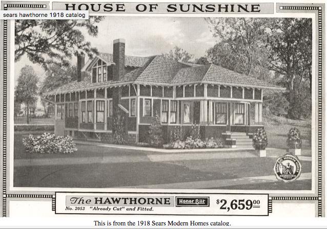 Sears Hawthorne bungalow 1918 Sears Modern Homes catalog