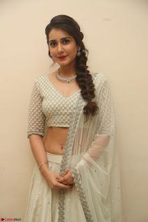 Raashi Khanan looks stunning in Crop Top Deep neck Choli Ghagra Transparent Chunni WOW ~  Exclusive Celebrities Galleries 145.JPG