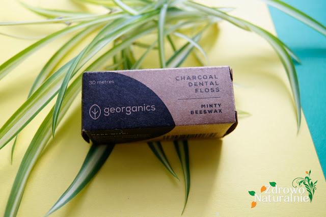 Georganics - Naturalna nić dentystyczna z węglem aktywowanym, woskiem i miętą