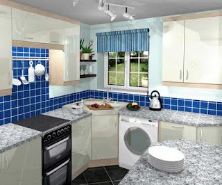 Koleksi Desain Interior Rumah Warna Biru