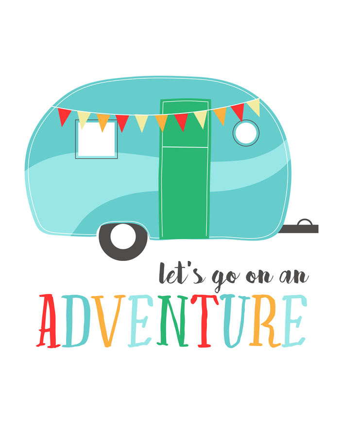 Let's Go On An Adventure Free Printable | 8x10 | Instant Download