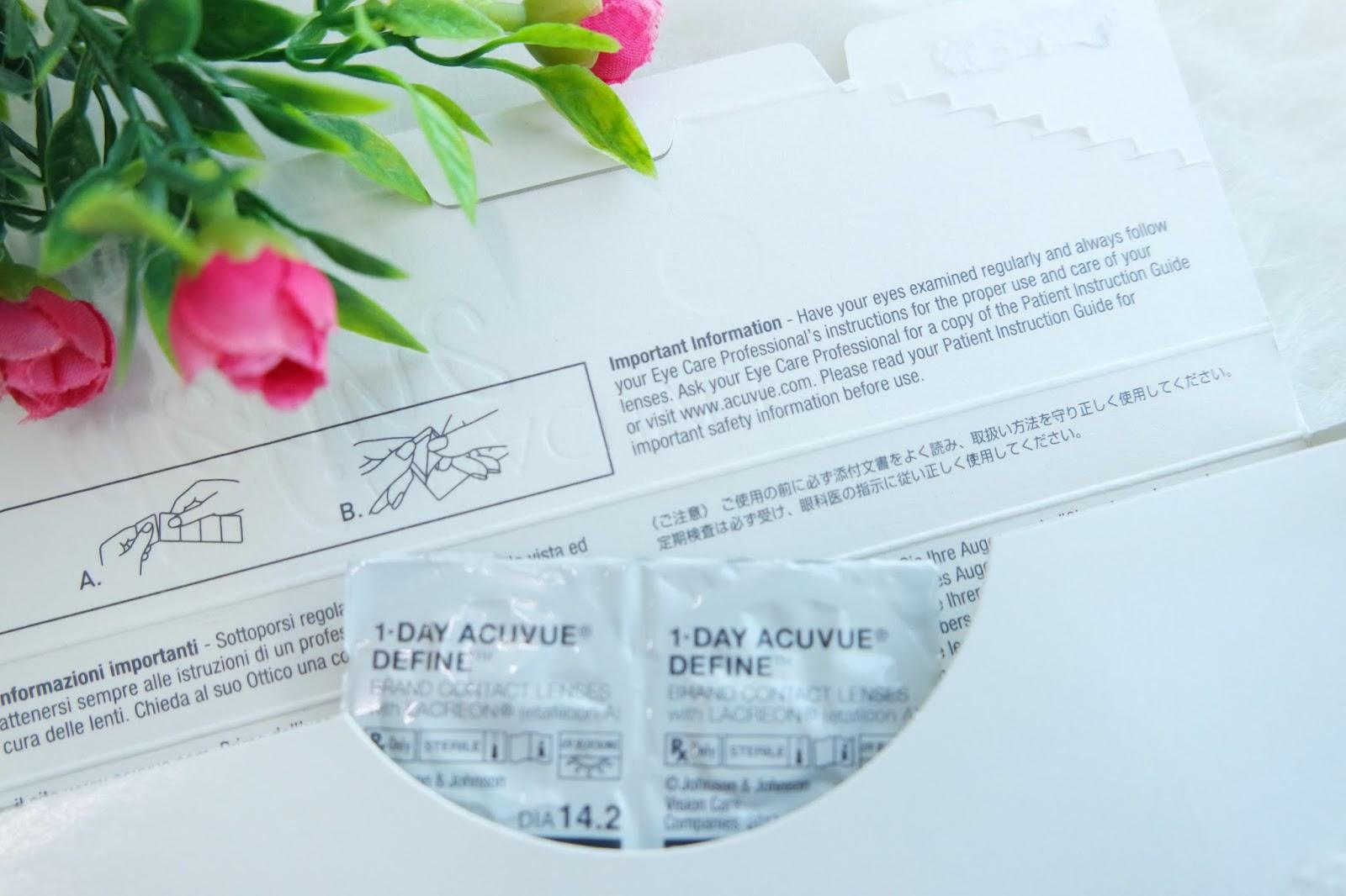 Vindy Alyssa Review 1 Day Acuvue Define Softlens 2 Ada Baiknya Sebelum Mencoba Pakai Soft Lens Konsultasikan Dulu Dengan Eye Care Profossional Ya Hal Ini Bertujuan Untuk Mengetahui Dan Memeriksa Kondisi