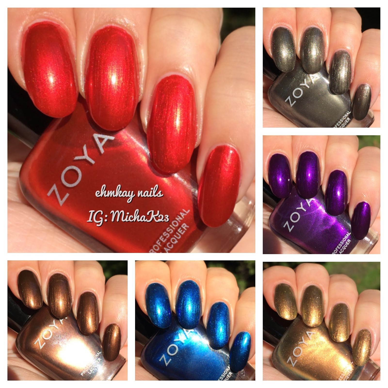 ehmkay nails: Zoya Fall 2015 Flair Collection: Swatches and Review