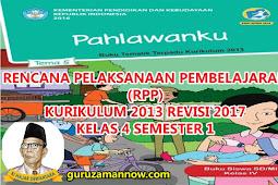 RPP KELAS 4 TEMA 5 SD/MI KURTILAS REVISI TAHUN PELAJARAN 2018 - 2019