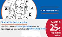 Logo Testa la tua vista online e scarica il buono sconto da 25€
