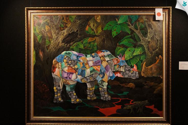 Gambar Pameran Lukisan - Lukisan Badak Kaya, Kaye Badak
