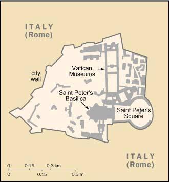 Cartina Michelin Italia.Piantina Della Citta Del Vaticano