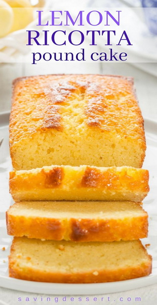 Easy Lemon Ricotta Pound Cake Recipe