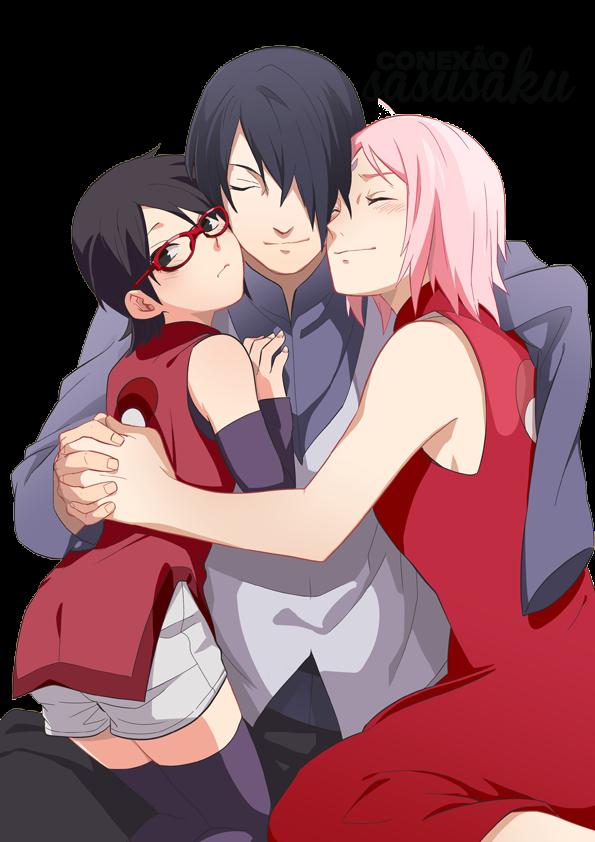 render sarada uchiha,sasuke uchiha,sakura haruno