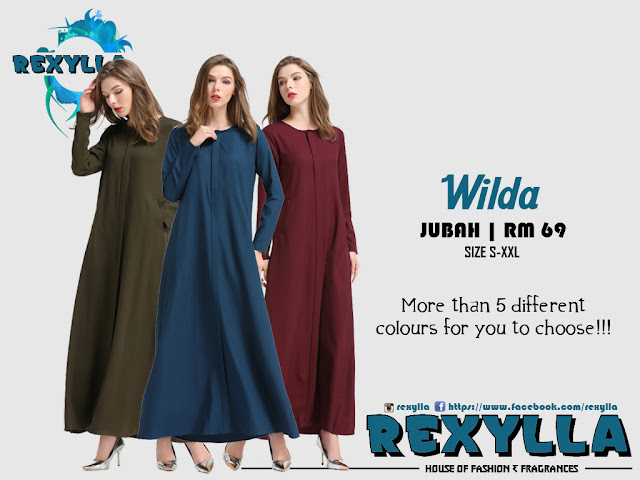rexylla, jubah, wilda collection