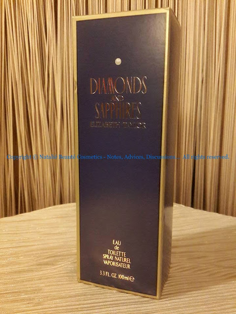 DIAMONDS AND SAPPHIRES by ELIZABETH TAYLOR PERSONAL PERFUME REVIEW AND PHOTOS BY NATALIE BEAUTE