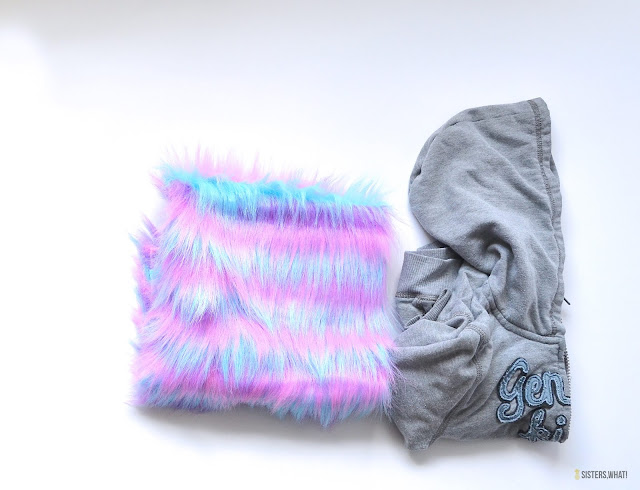 unicorn hoodie supplies faux fur