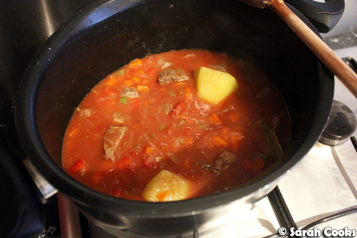 Beef Stew, start of cooking time