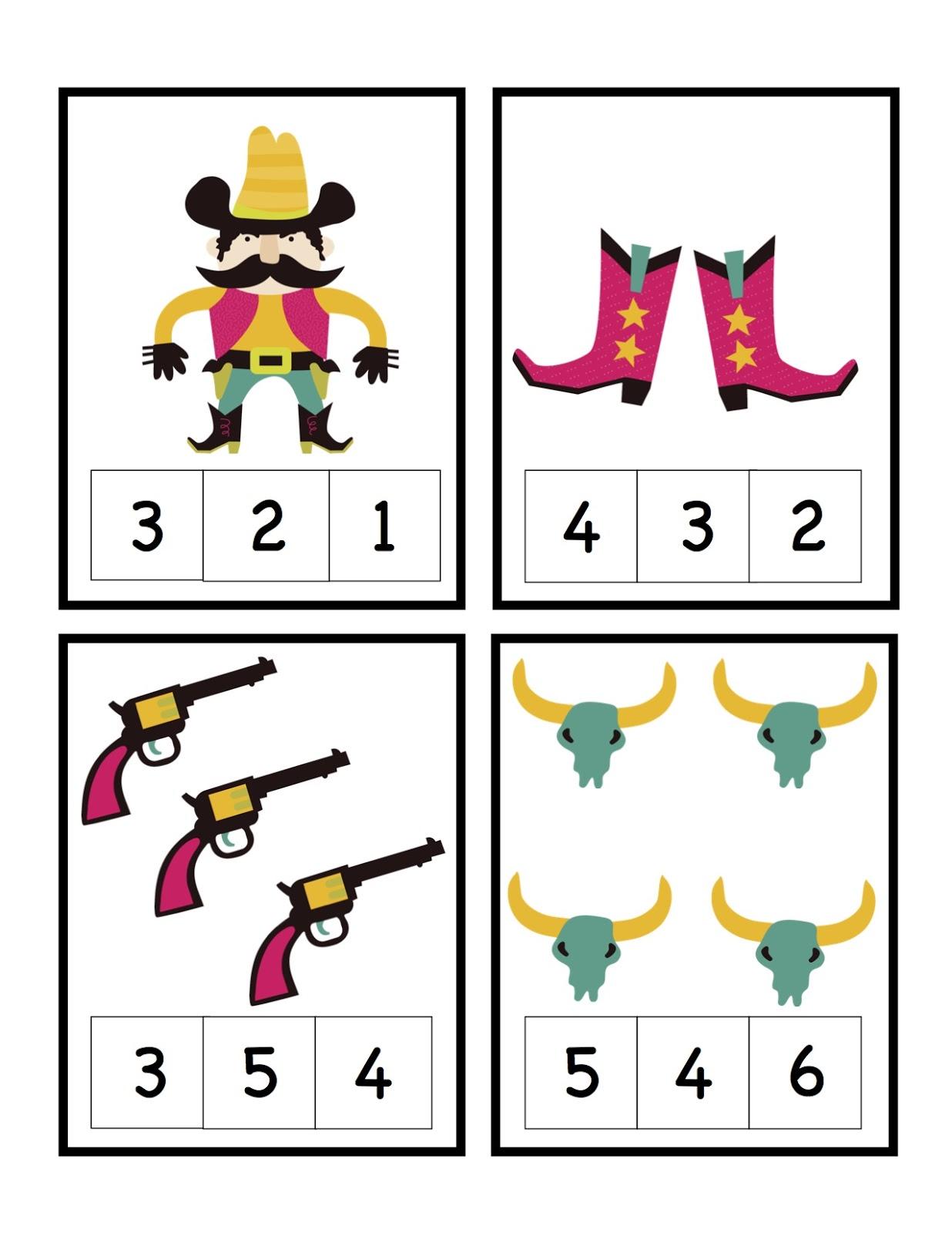 Preschool Printables Cowboys And Preschool