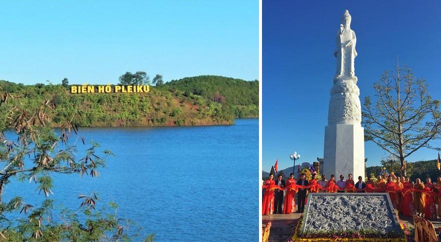 """Gia Lai: Khánh thành """"Tượng phật Quan Thế âm Bồ tát"""" tại khu du lịch Biển Hồ"""