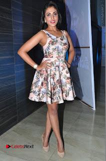 Actress Madhu Shalini Stills in Floral Short Dress at RGV Shiva to Vangaveeti Event  0212.JPG