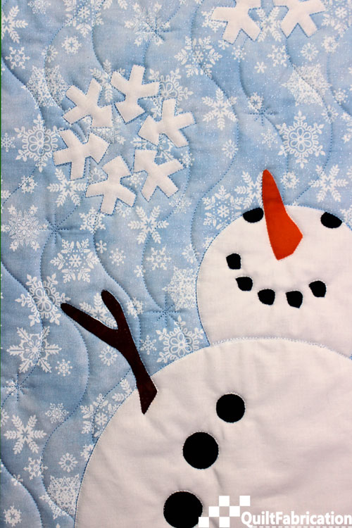 Mr Snowman for Let It Snow wall hanging