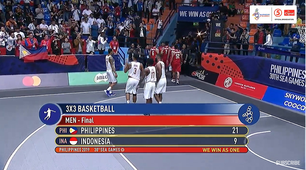 Gilas Pilipinas def. Indonesia, 21-9 (VIDEO) Men's 3x3 Gold Medal Game | SEA Games 2019